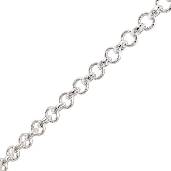 Silver Plated Belcher Chain 1 metre x 5mm
